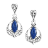 Lapis-and-Sterling-Silver-Drop-Earrings